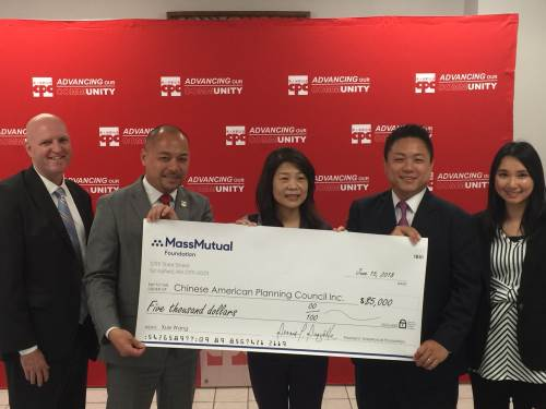 MassMutual Greater Hudson Awarded CSA award grant to support Chinese-American Planning Council